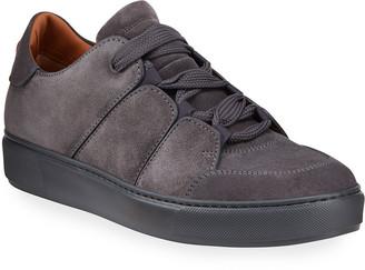 Ermenegildo Zegna Men's Paneled Suede Low-Top Sneakers