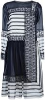Alberta Ferretti contrast panel dress