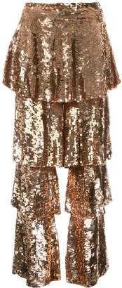 Osman tiered sequinned trousers