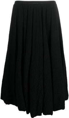 Jil Sander Boiled Wool Midi Skirt