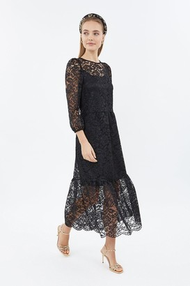 Coast Long Sleeve Lace Dirndl Midi Dress