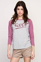 RVCA Juniors Notebook Script Raglan Graphic Tee