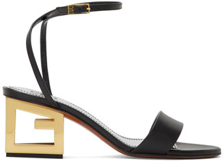 Givenchy Black G Heel Sandals