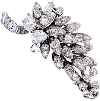 David Webb Heritage  Platinum 5.50 Ct. Tw. Diamond Brooch