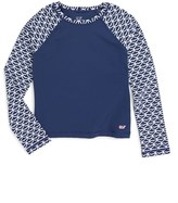 Vineyard Vines Girl's Whale Tail Long Sleeve Rashguard