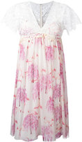 Giamba flamingos print dress - women - Silk/Cotton/Polyester - 38