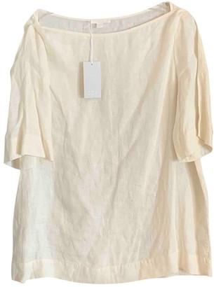 Cos Beige Linen Top for Women