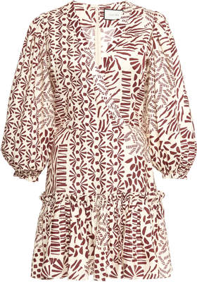 Alexis Idony Cotton Printed Mini Dress