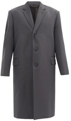 Lemaire Single-breasted Twill Overcoat - Dark Grey