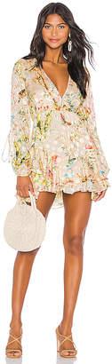 HEMANT AND NANDITA Veena Crepe Satin Dotted Dress