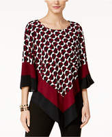 Alfani Printed Angled-Hem Top, Created for Macy's