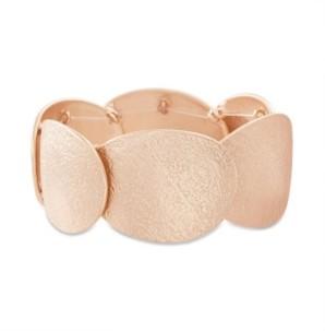 Catherine Malandrino Women's Overlapping Oval Stretch Bracelet