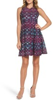 Maggy London Textured Fit & Flare Dress (Petite)