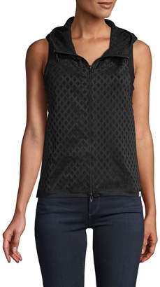 Vimmia Crisscross Sheer Hooded Vest