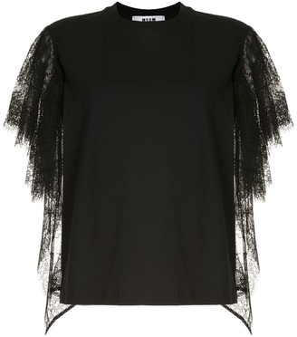 MSGM lace sleeves T-shirt
