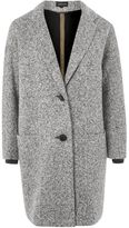 Topshop Textured cocoon coat