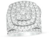 Zales 6 CT. T.W. Diamond Double Cushion Frame Multi-Row Three Piece Bridal Set in 14K White Gold