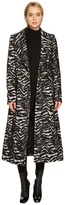 Just Cavalli Zebra Double Breasted Peacoat Women's Coat