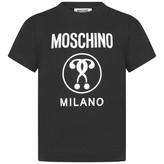 Moschino MoschinoBoys Black Milano Print Top