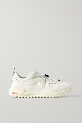 Brandblack Sierra Smooth And Textured Leather-trimmed Ripstop Sneakers - White
