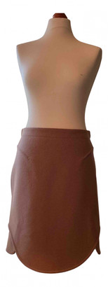 Carven Camel Wool Skirts