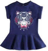 Kenzo Tiger Face Drop-Waist Dress, Navy, Size 12-18 Months
