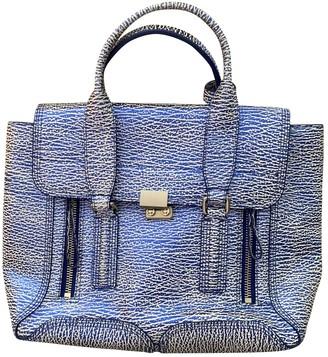 3.1 Phillip Lim Pashli Blue Patent leather Handbags