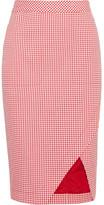 Altuzarra Wilcox Gingham Cotton-blend Wrap-effect Skirt - FR42