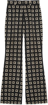 Gucci Square G print faille flare pant