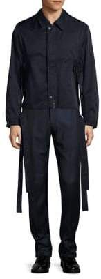 Carlos Campos Belted Zip-Front Jacket
