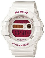 Casio Women's Baby-G BGD140-7B White Resin Quartz Watch with Digital Dial