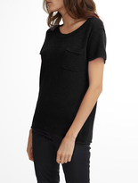 White + Warren Essential Cashmere Pocket Tee