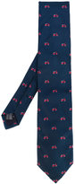 fe-fe embroidered scooter tie - unisex - Silk - One Size
