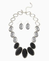 Charming charlie Faceted Stone Necklace Set