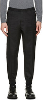 DSQUARED2 Black Twill Lounge Pants