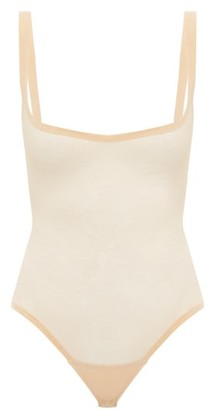 Wolford Tulle Shapewear Bodysuit - Nude