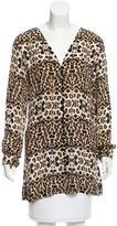 A.L.C. Silk Leopard Print Tunic