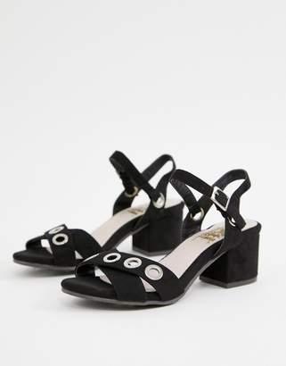 Xti mid heel sandals-Black