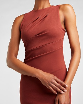 Express Pleated Shoulder Sheath Dress