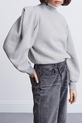 AGOLDE 100% Cotton Folded Sleeve Sweatshirt