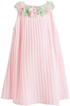 Blueberi Boulevard Baby Girls Pleated Chiffon Dress