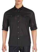 John Varvatos Solid Cotton Shirt