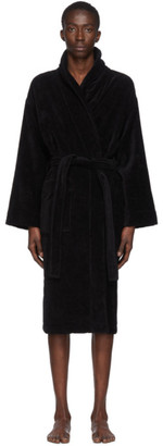 Palm Angels Black Logo Bath Robe
