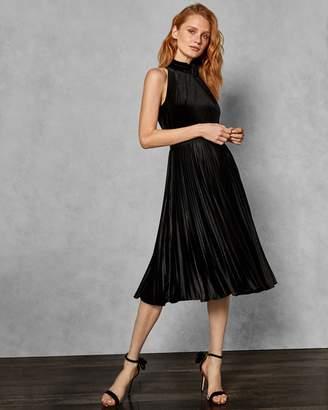 Ted Baker Pleated Velvet Midi Dress
