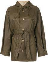 Etoile Isabel Marant Fenton hooded trench coat - women - Cotton/Polyester/Resin - 40