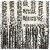Roberto Cavalli reptile print scarf