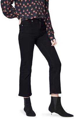 Find. Amazon Brand Women's Flared Cropped Jeans