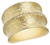 Effy Jewelry Effy D'Oro 14K Yellow Textured Gold Diamond Ring, 0.24 TCW