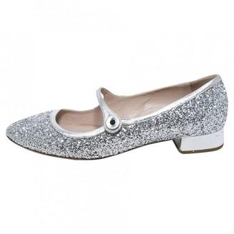 Miu Miu Metallic Glitter Heels