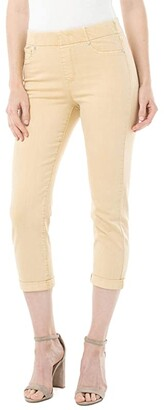 Liverpool Chloe Crop Rolled Cuff in Dijon Yellow (Dijon Yellow) Women's Jeans